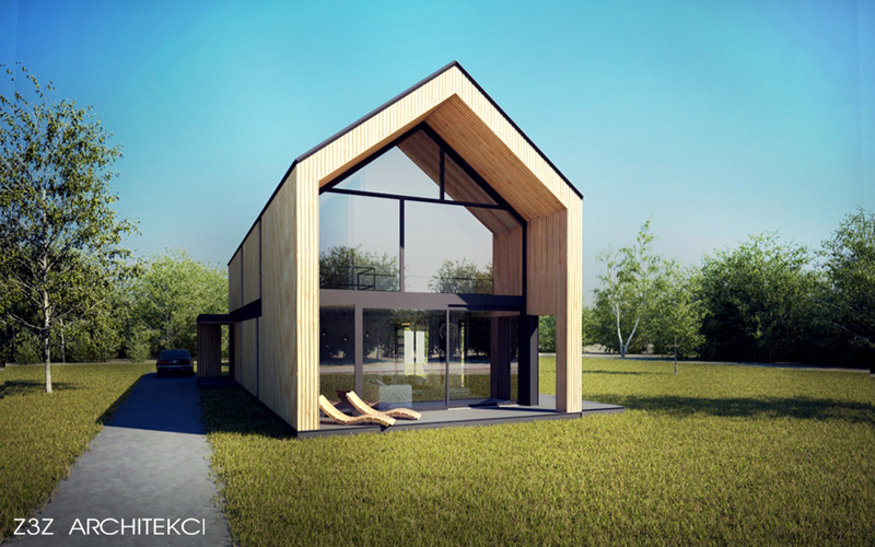 Dom Otwarty, Brwinów. Projekt: Z3Z ARCHITEKCI | Mateusz Zajkowski