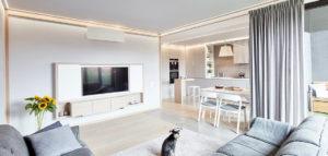 Wnętrze w ramach – minimalistyczne mieszkanie projektu pracowni 81.WAW.PL