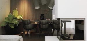 Minimalistyczne wnętrza domu projektu DEKAA Architects