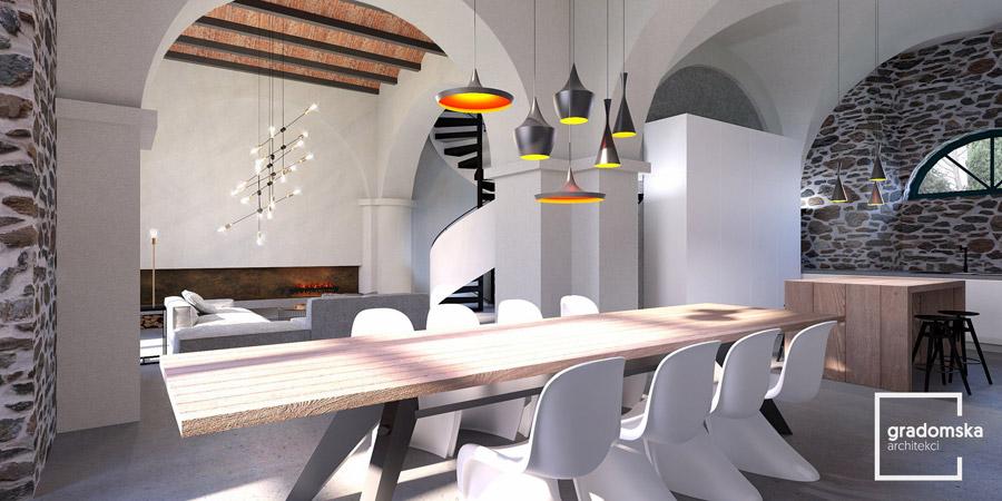 Apartamenty w pałacu, Toskania, Włochy. Projekt wnętrz: Gradomska Architekci