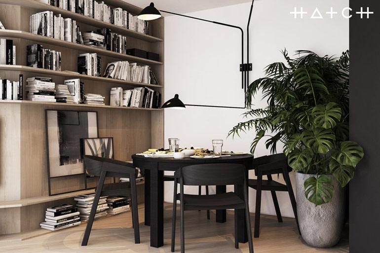 Wnętrza mieszkania w Łodzi. Projekt:HATCH Studio