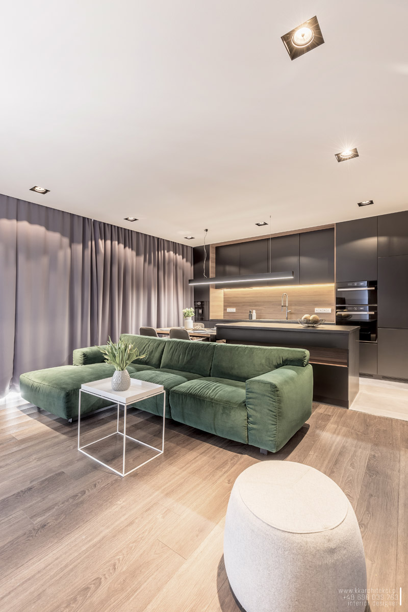 Wnętrze mieszkania w Łodzi. Projekt: KK Architekci | Katarzyna Kosiorek