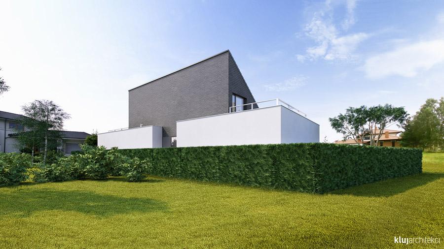 Dom półtorapiętrowy pod Poznaniem. Projekt: Kluj Architekci