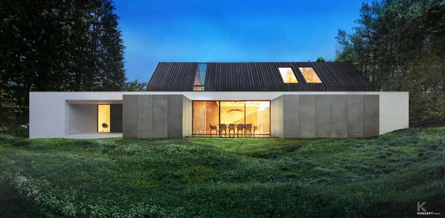 Dom pod Krakowem. Projekt:KONZEPT Architekci   Paweł Rusak