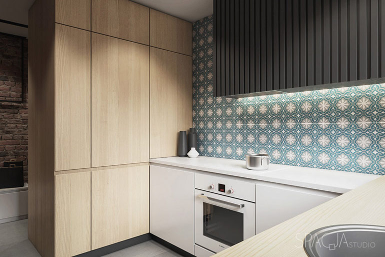 Mieszkanie w bloku, Gliwice. Projekt wnętrz: Spacja Studio