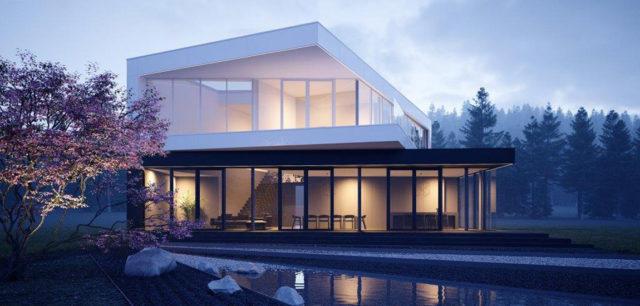 """Dom """"Czarno na białym"""" – dynamiczna bryła projektu 81.WAW.PL"""