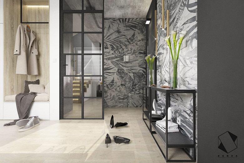 Wnętrza domu w Warszawie. Projekt: Pracownia Architektury Wnętrz BAGUA