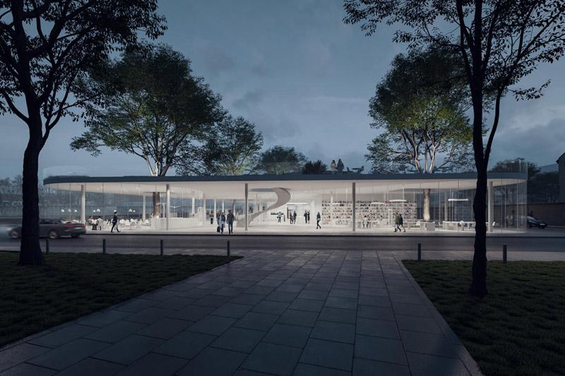 Dyplomy Architektury: Eksperymentalna Strefa Wystawiennicza - Artystyczny Start Up. Projekt: Katarzyna Kołpa