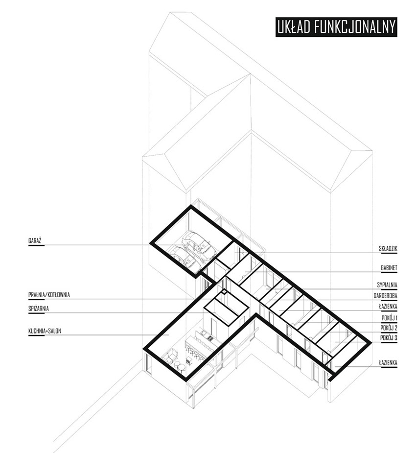 """Dom """"T"""" - Nowoczesna stodoła pod Warszawa. Projekt:KRES Architekci"""