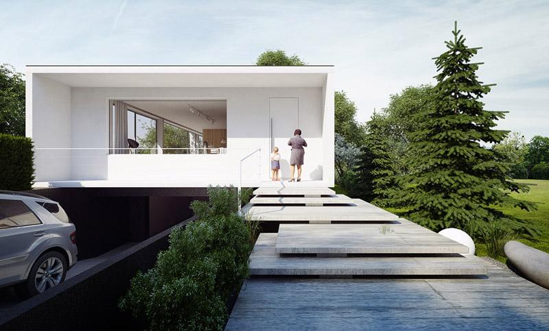 Dom z widokiem na Las, Gliwice. Projekt: MUS ARCHITECTS