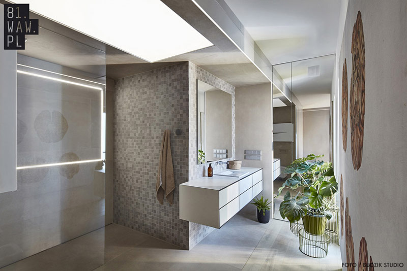 """Projekt mieszkania """"Magiczne wnętrze w linię"""". Autorzy: 81.WAW.PL"""