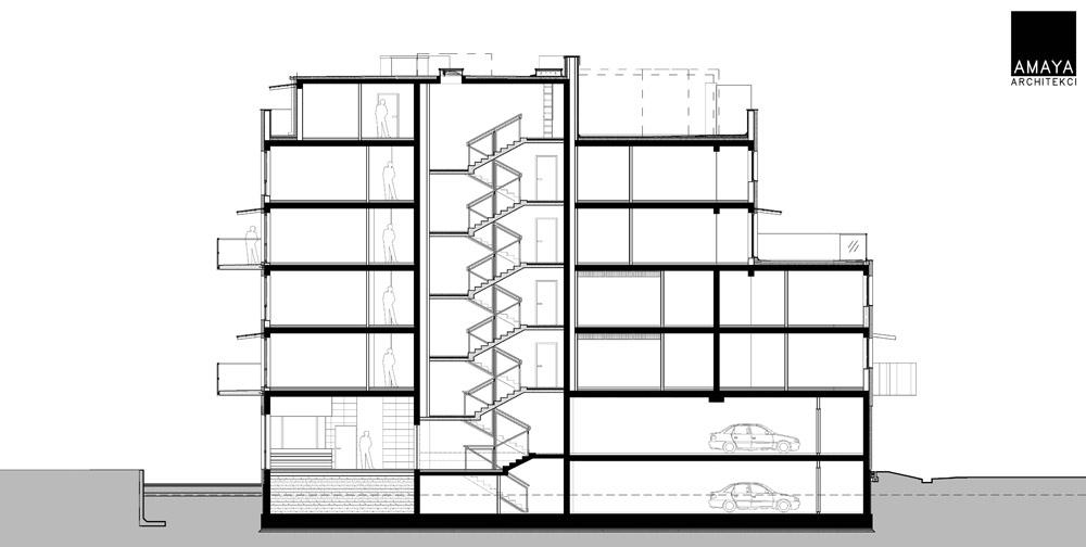 Budynek mieszkalny wielorodzinny w Katowicach. Projektant: AMAYA ARCHITEKCI