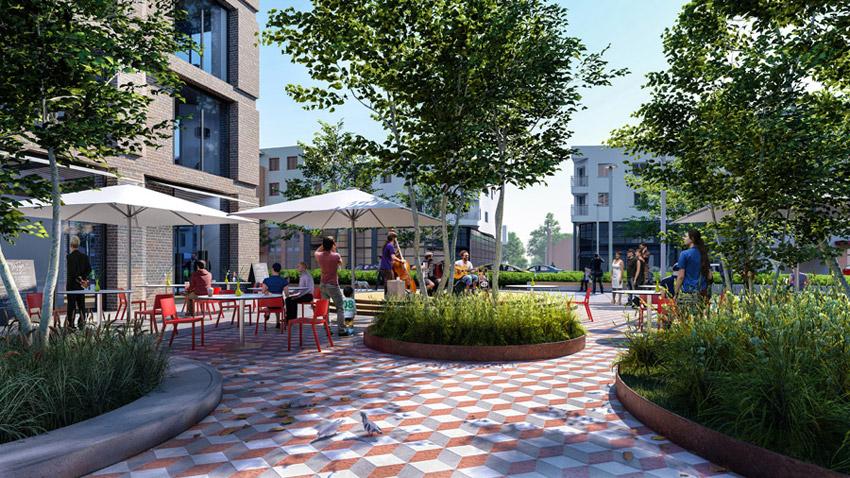 Centrum Stargardu. II Miejsce w konkursie: DOMINO Grupa Architektoniczna
