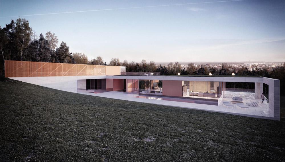 """Projekt domu """"Horizon"""". Autorzy: Mobius Architekci Przemek Olczyk"""