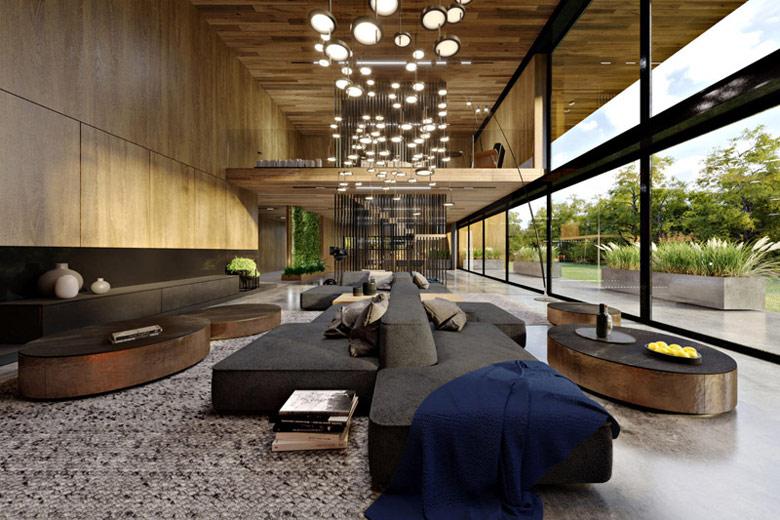 Dom dębem otulony. Projekt wnętrz: KANDO ARCHITECTS