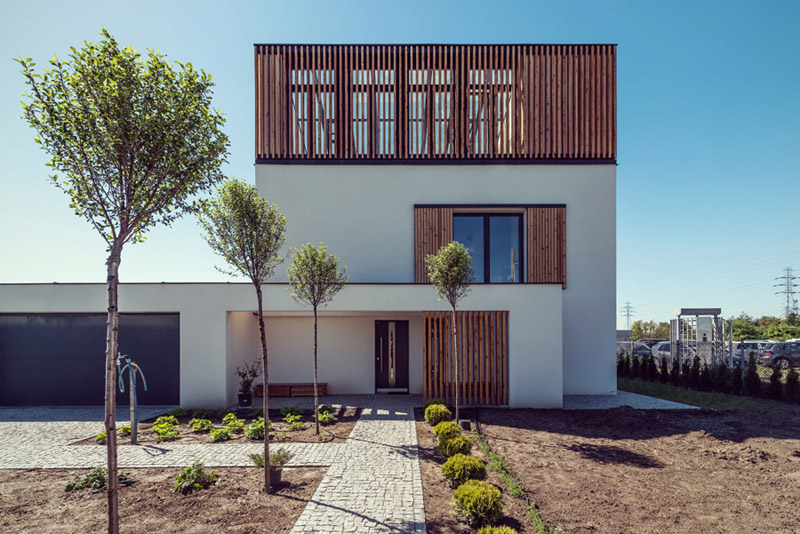 Dom pasywny SkyGarden w Warszawie. Projekt: menthol architects. Zdjęcie: Przemysław Turlej