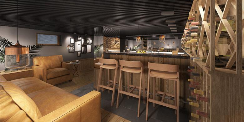 Piwnica na wino w domku letniskowym. Projekt: Milwicz Architekci