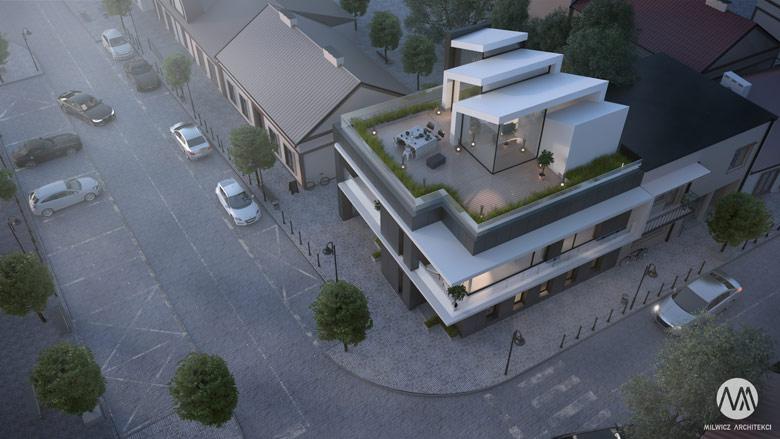 Przebudowa obiektu usługowego w Ślesinie pod Koninem. Projekt: Milwicz Architekci