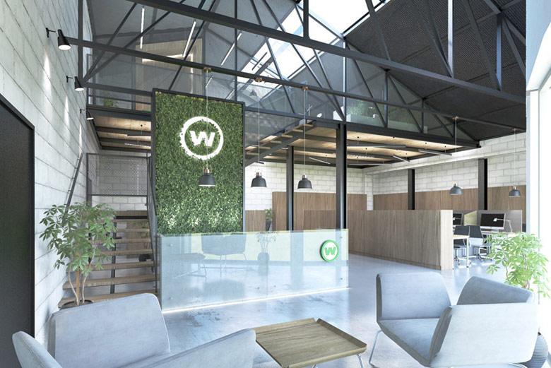 Wnętrza siedziby firmy Watis. Projekt: Milwicz Architekci