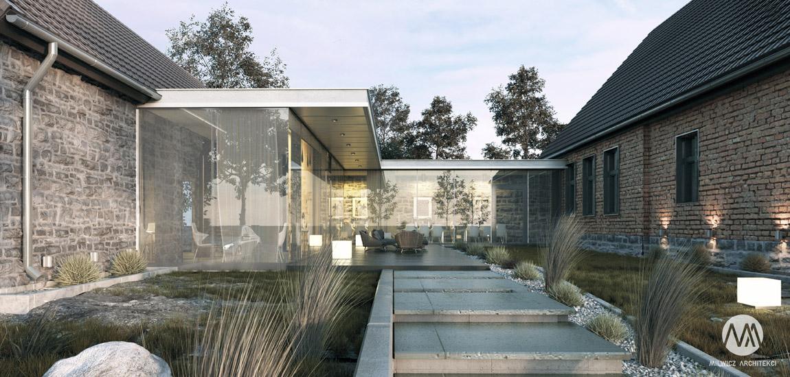 Nowoczesna adaptacja zabytkowych budynków projektu biura Milwicz Architekci