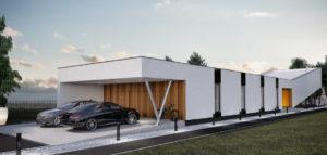 Dom o długości 40 metrów projektu studia Monochrom Architects