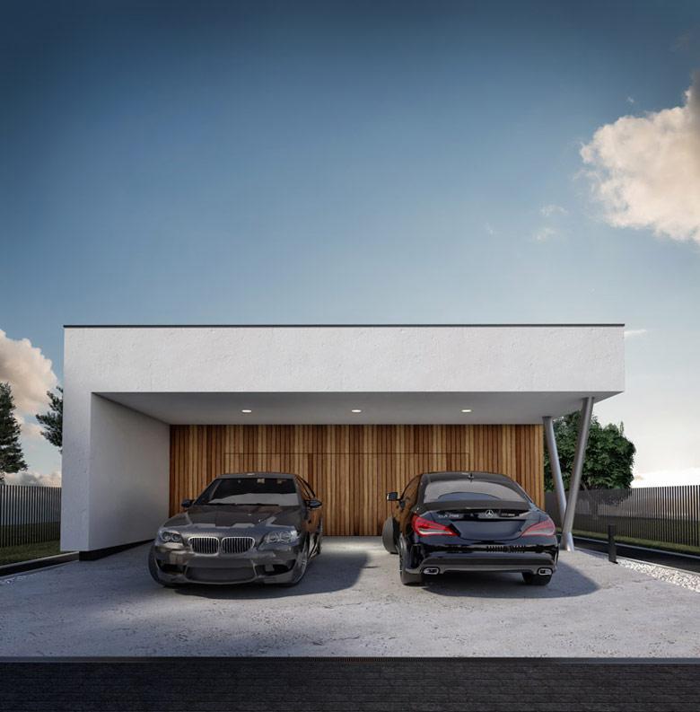 Dom jednorodzinny w Żorach. Projekt: Monochrom Architects | Witold Kucza