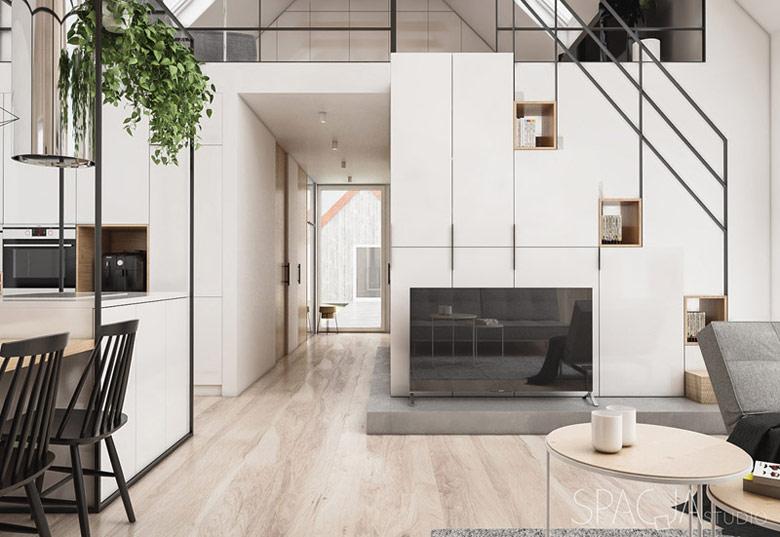Dom w Szwecji. Projekt wnętrz: Spacja Studio