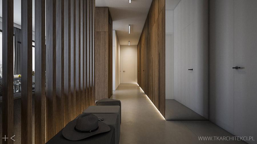 Apartament w Warszawie. Projekt wnętrz: TK Architekci