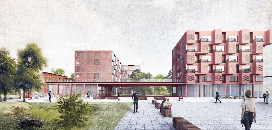Budynek mieszkalno-usługowy w Rybniku. Projekt:Architects for Urbanity
