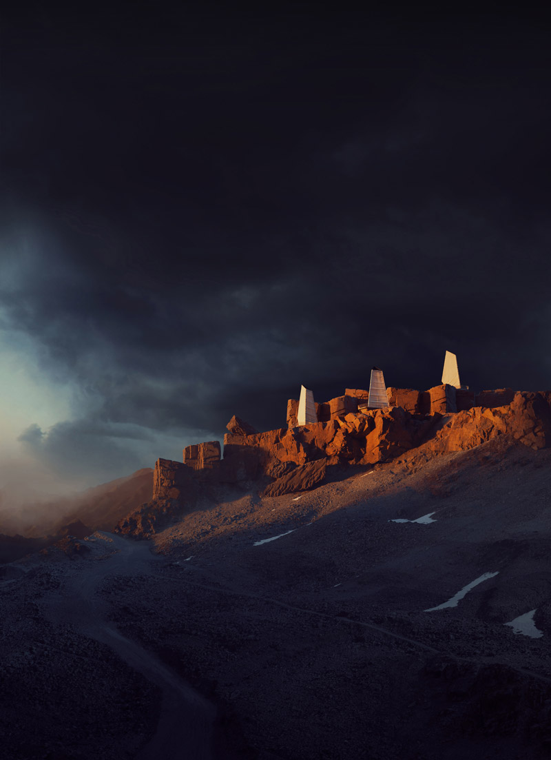 Northern Wisps - Projekt schronienia w Islandii. Autor: Bartosz Domiczek. I Nagroda w konkursie Ronena Bekermana.