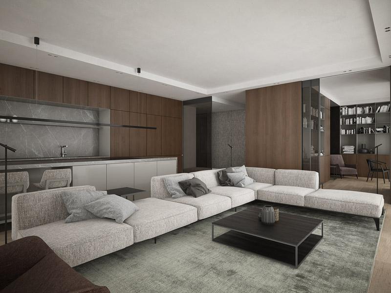 Wnętrza apartamentu, Warszawa. Projekt: Exit Design