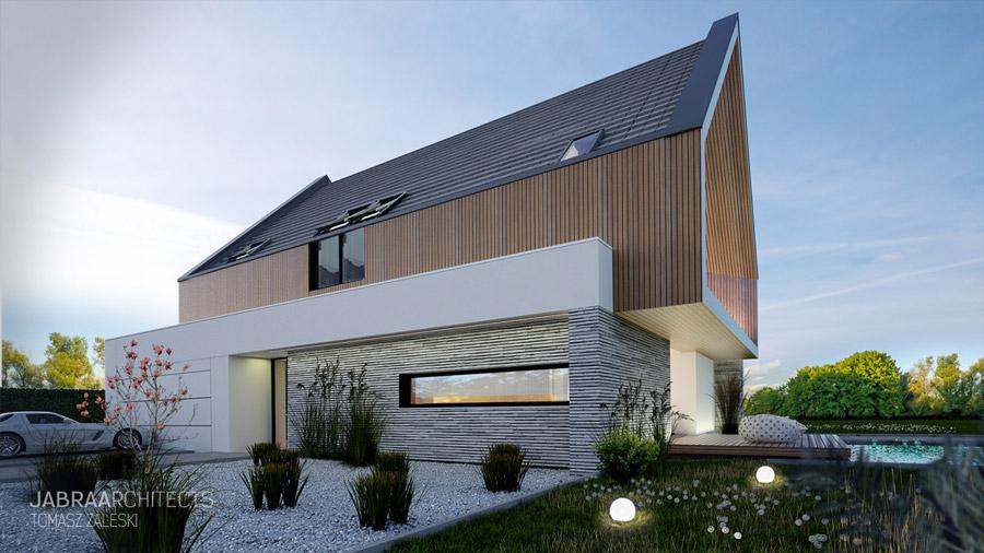 Projekt domu BARKA, Krępice. Autor: JABRAARCHITECTS