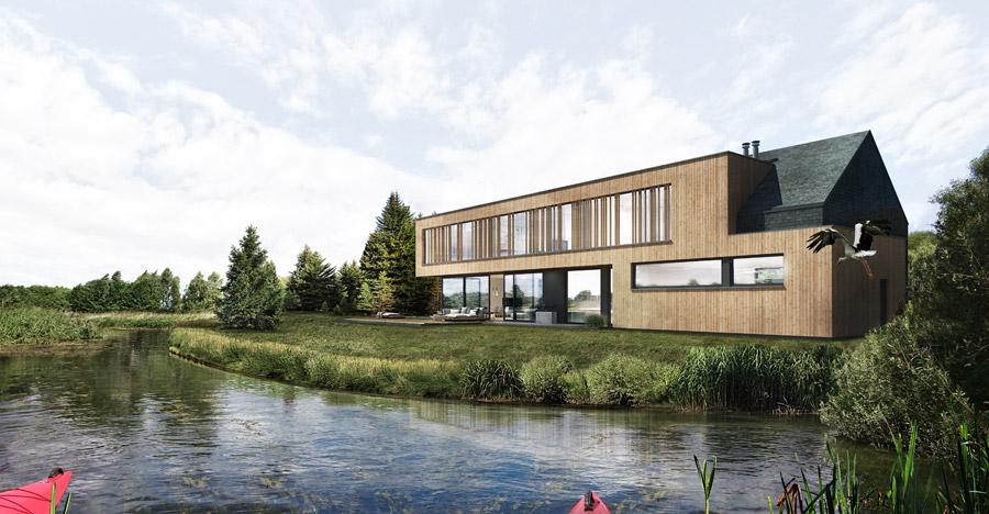 Dom nad jeziorem, okolice Grudziądza. Projekt:Libido Architekci