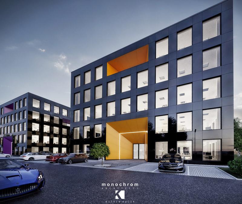 Business Park Żory. Projekt:Monochrom Architects | Witold Kucza
