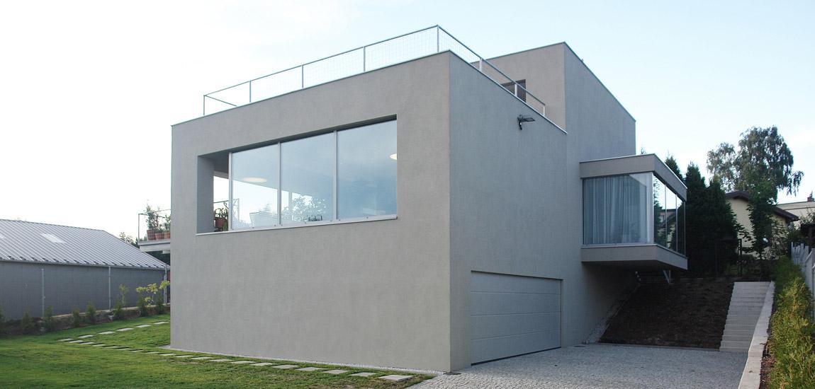 Rozbudowa domu z lat 60-tych, Łaziska Górne. Projekt:SLAS Architekci