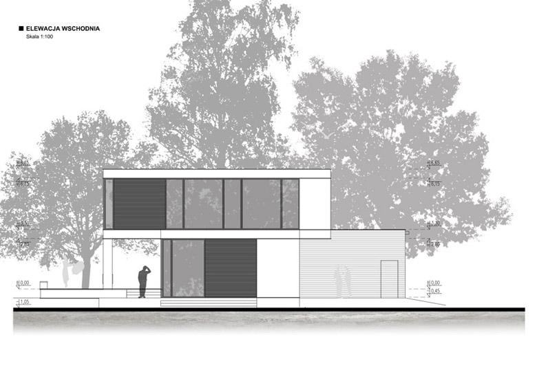 Dom R – przebudowa budynku z lat 60-tych, Konstancin Jeziorna. Projekt:STOPROCENT Architekci