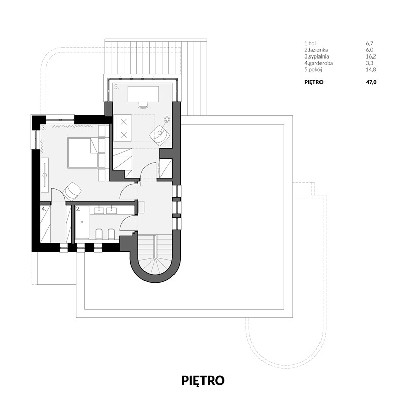 Przebudowa modernistycznej willi z lat 40-tych. Projekt: URBAA – Urbański Architektura i Wnętrza