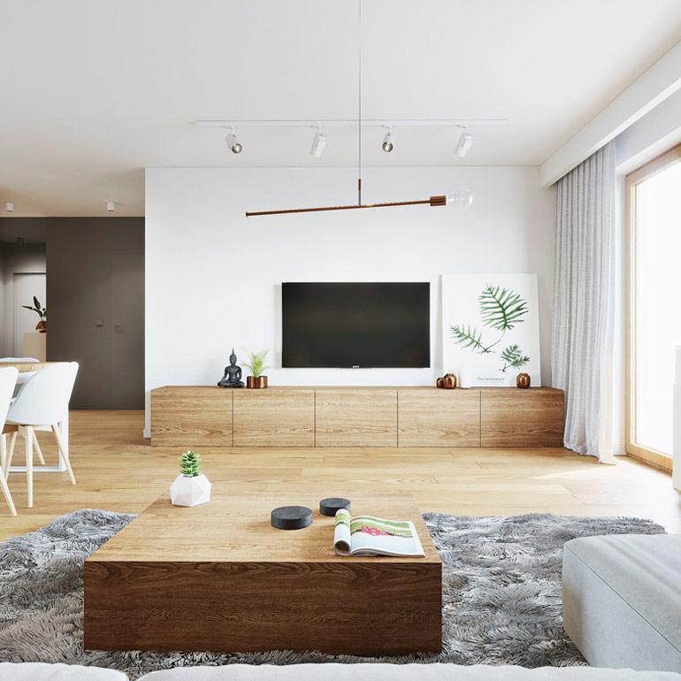 Wnętrze mieszkania w Lublinie. Projekt: 081 Architekci