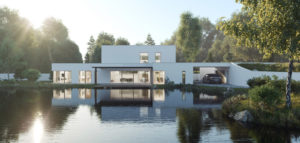 Dom nad wodą w Młyńcu Pierwszym biura BALD Architektura