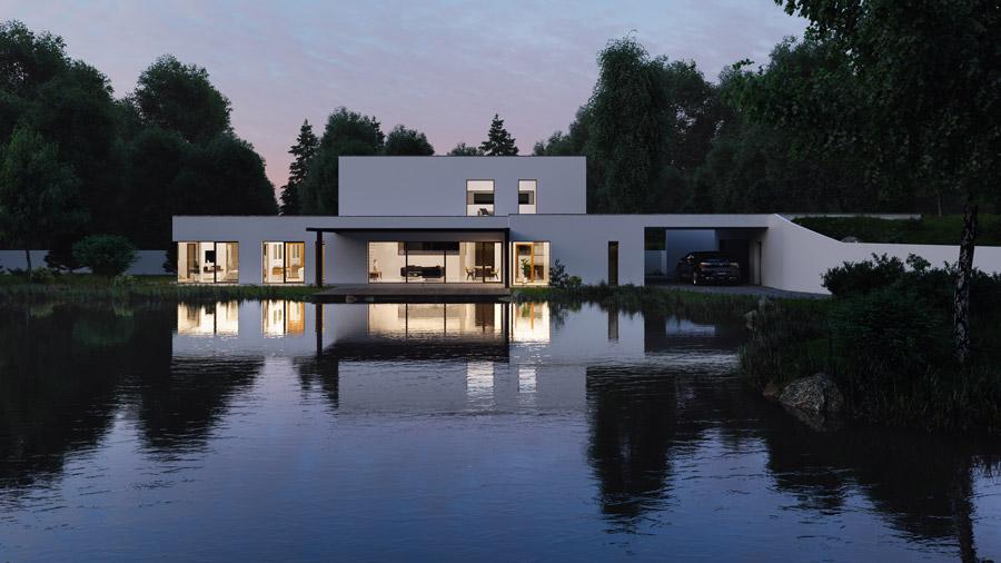Dom jednorodzinny w miejscowości Młyniec Pierwszy. Projekt: Bald Architektura