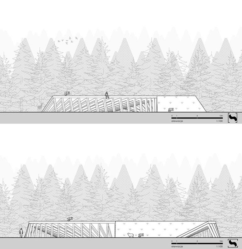 Dyplomy Architektury: Ośrodek agroturystyczny w Teleśnicy Sannej. Projekt: Jakub Lazarowicz