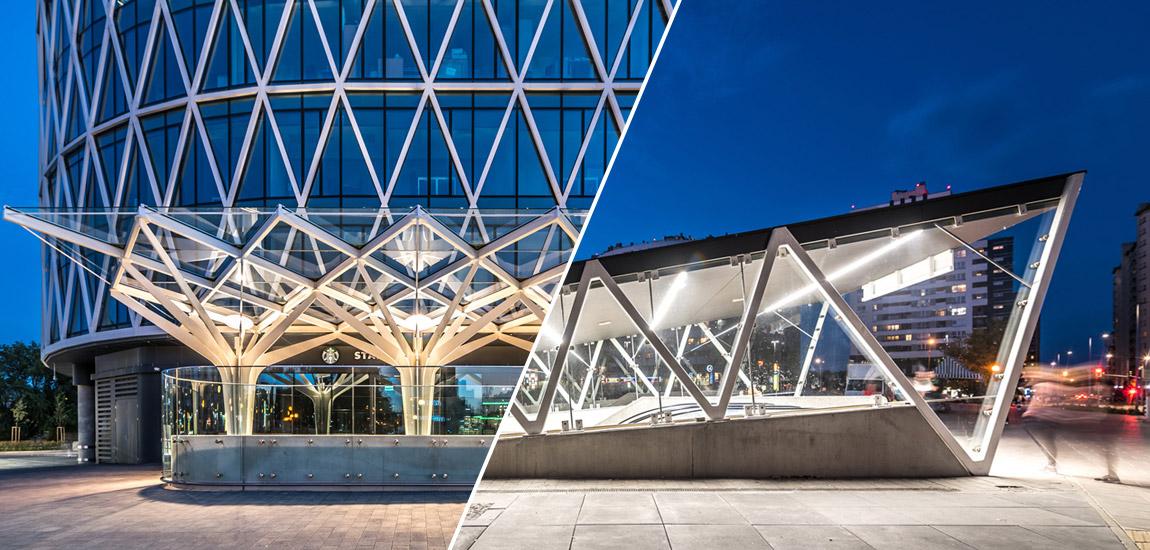 Nowe wejścia do stacji metra przy ulicy Puławskiej projektu biura DA Dziuba Architekci