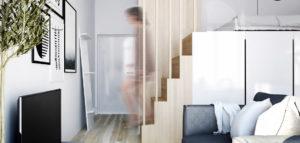 Mikro-apartament w kamienicy projektu studia SOTE architects