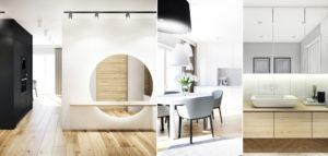 Wnętrza mieszkania projektu SOTE architects
