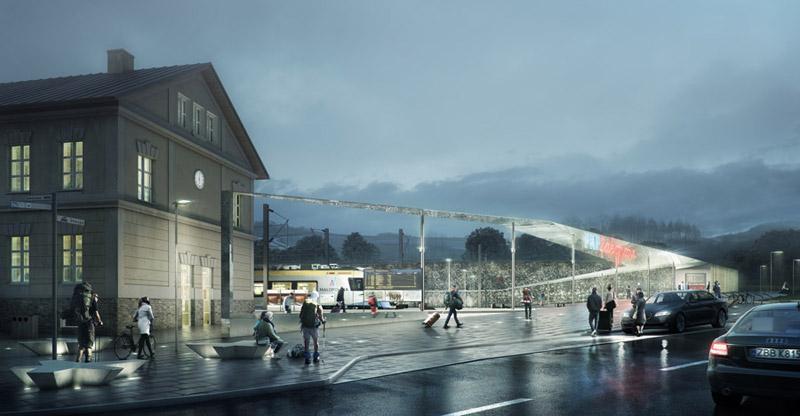 Centrum Komunikacyjne w Zakopanem. Projekt:URBA Architects