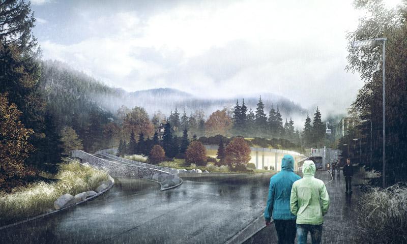 Centrum przesiadkowe w Kuźnicach. Projekt:URBA Architects