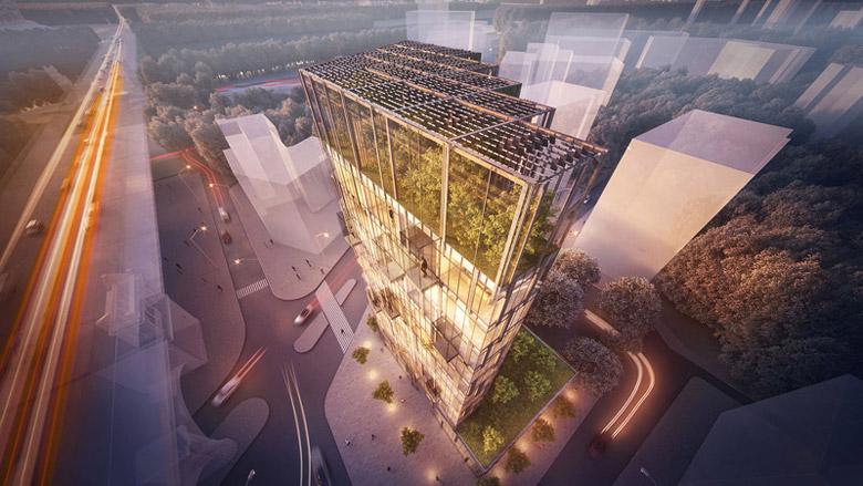 Eco Warsaw Tower, Warszawa. Projekt: BXBstudio Bogusław Barnaś