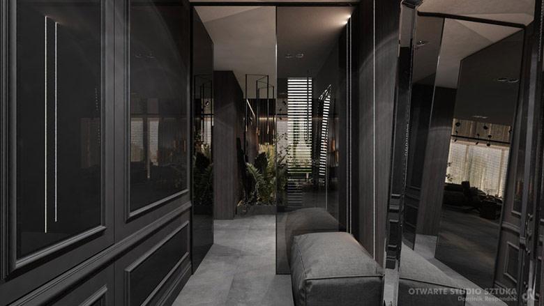 """""""Sheridan's"""" - wnętrza domu jednorodzinnego. Projekt: OSS – Otwarte Studio Sztuka   Architektura Wnętrz Dominik Respondek"""