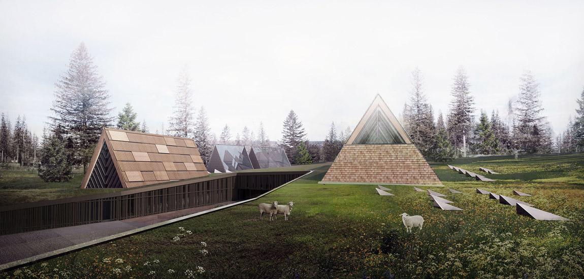 Dyplomy Architektury: Centrum Integracji Kultur Podhala w Zakopanem projektu Edyty Ptasznik