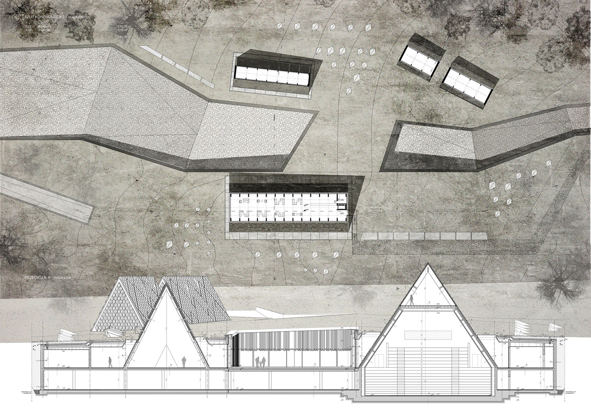 Dyplomy Architektury: Centrum Integracji Kultur Podhala w Zakopanem. Projekt: Edyta Ptasznik